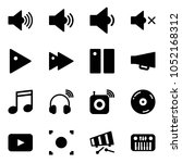 solid vector icon set   volume... | Shutterstock .eps vector #1052168312