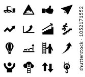 solid vector icon set   fork... | Shutterstock .eps vector #1052171552