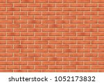 brick wall with scratched tiled ...   Shutterstock .eps vector #1052173832