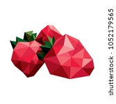 strawberry of geometric figures ... | Shutterstock .eps vector #1052179565