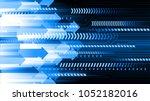 binary circuit board future... | Shutterstock .eps vector #1052182016