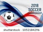 2018 soccer championship... | Shutterstock .eps vector #1052184296