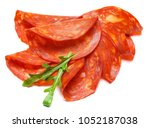 italian salami or spanish... | Shutterstock . vector #1052187038