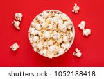 popcorn viewed from above on a... | Shutterstock . vector #1052188418