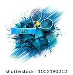abstract blue background sport...   Shutterstock . vector #1052190212