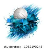 volleyball text on an abstract... | Shutterstock . vector #1052190248