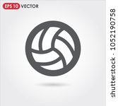 volleyball single vector icon... | Shutterstock .eps vector #1052190758