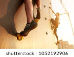 close up view of woman feet in... | Shutterstock . vector #1052192906
