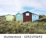 four bath cottages from outside ...   Shutterstock . vector #1052193692