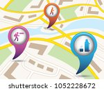 set of tourism services map...   Shutterstock .eps vector #1052228672