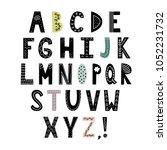 alphabet in scandinavian style. ... | Shutterstock .eps vector #1052231732
