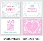 happy mothers day  i love my... | Shutterstock .eps vector #1052231738
