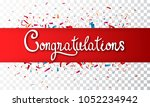 colorful congratulations banner ...   Shutterstock . vector #1052234942