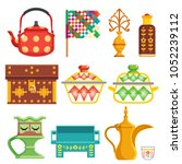 old traditional heritage icons... | Shutterstock .eps vector #1052239112