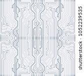 vector microchip background | Shutterstock .eps vector #1052239535