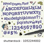 doodle typography. scribble... | Shutterstock .eps vector #1052244002