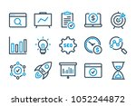 seo related line icon set....