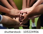 group of young people's hands | Shutterstock . vector #105224906