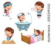 vector illustration of kids... | Shutterstock .eps vector #1052249102