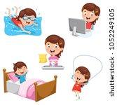 vector illustration of kids...   Shutterstock .eps vector #1052249105
