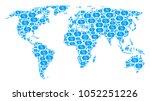 earth atlas pattern combined of ...   Shutterstock .eps vector #1052251226