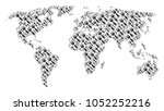 continent map concept made of...   Shutterstock .eps vector #1052252216