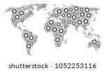 international atlas collage...   Shutterstock .eps vector #1052253116