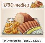 texas bbq medley icon. cartoon... | Shutterstock .eps vector #1052253398
