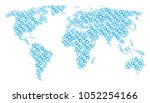global map collage done of...   Shutterstock .eps vector #1052254166