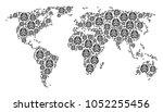 global map mosaic made of brain ...   Shutterstock .eps vector #1052255456