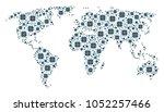 continent map pattern...   Shutterstock .eps vector #1052257466
