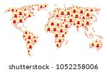 earth map composition created...   Shutterstock .eps vector #1052258006