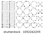 hipster arrows. arrows in boho...   Shutterstock .eps vector #1052262245