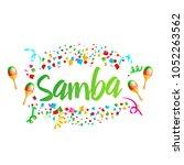 poster for brazil dance samba... | Shutterstock .eps vector #1052263562