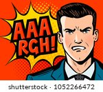 angry businessman or man in... | Shutterstock .eps vector #1052266472