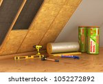 building materials  thermal... | Shutterstock . vector #1052272892