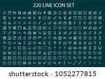 line icon set.220 line icon | Shutterstock .eps vector #1052277815