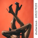 lesbian attitude  female feet ... | Shutterstock . vector #1052279255