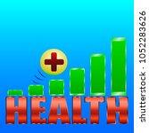 health level  green rectangles  ... | Shutterstock .eps vector #1052283626