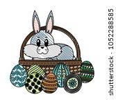 doodle rabbit animal inside... | Shutterstock .eps vector #1052288585