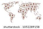 earth atlas pattern organized... | Shutterstock . vector #1052289158