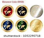 6 in 1 set of binance coin  bnb ...