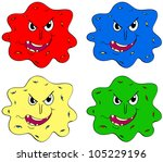 germs and bugs in different... | Shutterstock . vector #105229196