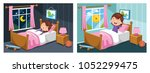 vector illustration of kid... | Shutterstock .eps vector #1052299475