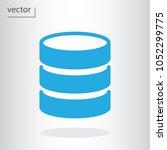database icon   vector... | Shutterstock .eps vector #1052299775