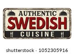 authentic swedish cuisine... | Shutterstock .eps vector #1052305916