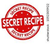 secret recipe grunge rubber...   Shutterstock .eps vector #1052305922