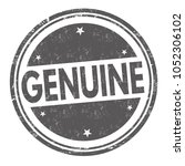 genuine grunge rubber stamp on... | Shutterstock .eps vector #1052306102