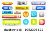 collection of web buttons ... | Shutterstock .eps vector #1052308622