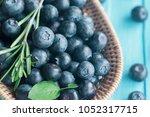 close up fresh ripe wild... | Shutterstock . vector #1052317715